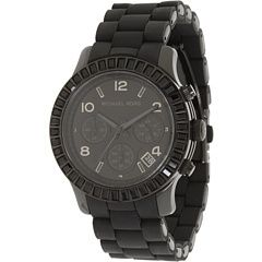 Michael Kors Chronograph Black Crystals Ladies Watch MK5512 Black