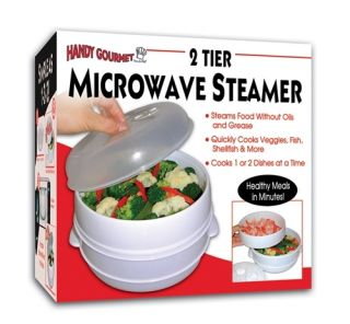 Tier Microwave Steamer Steam Veggies Fish Seafood Etc
