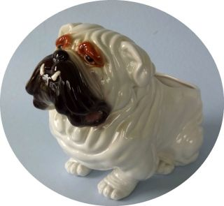 Vintage NAPCO BULLDOG Planter VERY LARGE No 129 NAPCOWARE Japan DOG