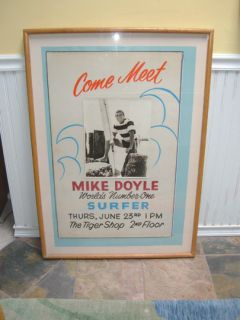 1960s Original Promo Surf Poster Mike Doyle for Hansen