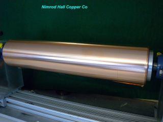 Nimrod Hall Copper Foil Sheet 5 mil x 18 x 4 Roll CU 110 ASTM B 152 3