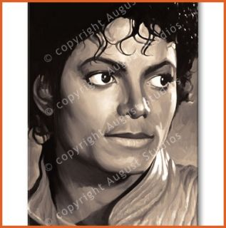 Michael Jackson Original RARE Canvas Painting 30x 18