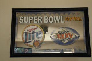 Superbowl XXXV Central RARE Miller Lite Beer Mirror