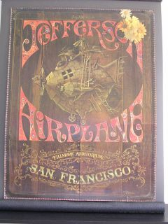 Airplane Two Sided Fillmore Poster by J Michaelson Dave Shiller