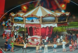Decorative Kids Merry Go Round Motorized Circus Fair Midway Kit