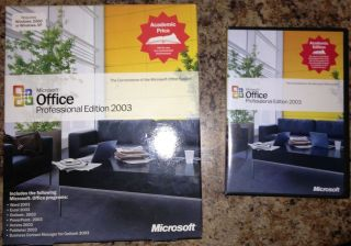 Microsoft Office 2003 Professional Full Version Academic