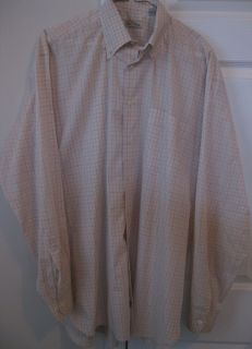 Peter Millar Retail $115 Light Pink Gray Pattern LS Button Front Shirt