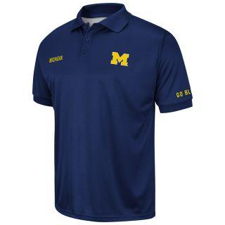 NCAA Michigan Wolverines Plateau Pique Polo Shirt