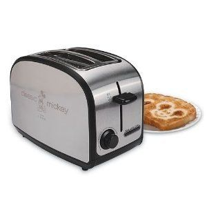 Disney Toaster   Stainless Steel Mickey Mouse Logo Imprint Wide Slot 2