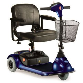 Blue 3 Wheel Micro Portable Lynx Mobility Scooter Electric Cart