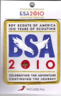 Eagle Cub Boy Scout 100th Anniversary of Scouting Patch w/ Pin Uniform