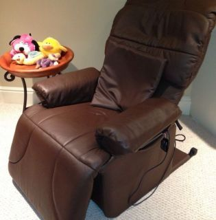 Genuine Brown Leather Lazy Boy Type Recliner Massage Chair