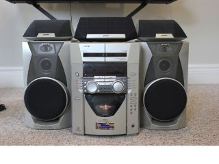 Sharp Mini Stereo System W 5 Disc Cd Changer And Dual