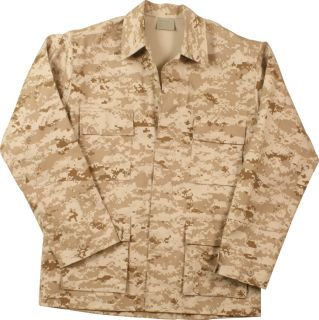 Camouflage BDU Military Tactical Camo Army Uniform Shirt