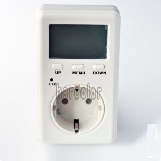 EU Socket Mini Energy Power Watt Voltage Volt Meter LCD Monitor
