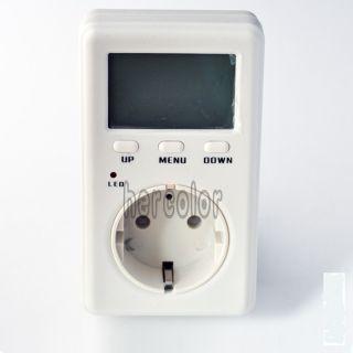 EU Socket Mini Energy Power Watt Voltage Volt Meter LCD Monitor
