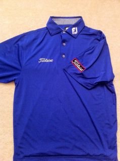Lisle Tour Staff Polo Shirt Sz M Titleist FJ Logo Peter Millar