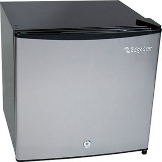 Stainless Steel Upright Freezer Refrigerator Compact Mini Fridge Lock