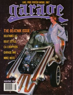 MAGAZINE 6 HOT ROD CUSTOM CAR PINUP BEATNIK MIKE NESS ED ROTH RAT FINK