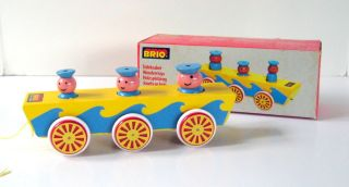 Vintage BRIO SAILOR WAGON PULL TOY 0350 31780 Up down motion NOS Box