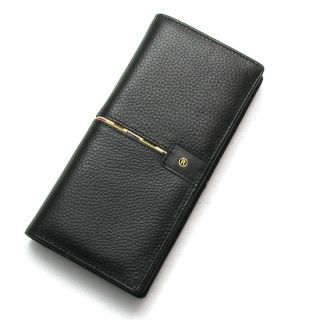 Bifold Mens Long Wallet Card Check Purse Middle Line Point