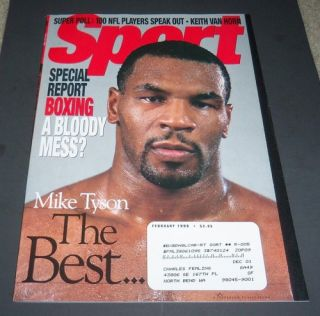 Mike Tyson Sport Magazine February 1999 Boxing Champion