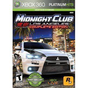 Midnight Club Los Angeles LA Complete Edition Xbox 360 Racing Car Game