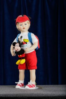 Gustave F Wolff LTD Porcelain Doll MIKEY Goes to DISNEY WORLD SIGNED