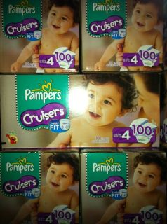 Pampers Cruiser Fit Size 4 Baby Diaper 100 Count