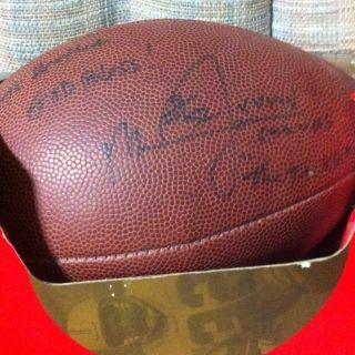 Mike Jones Autographed Football