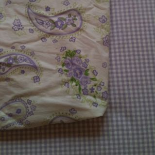 Pottery Barn Kids Purple Lavender Paisley Crib Sheet Toddler Bed RARE