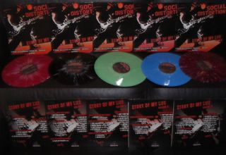 Social Distortion Mike Ness Story of My Life 5LPS Color Limited to 900