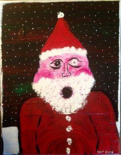 Mikey Teutul Original Painting Santa Caught