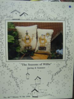 Seasons of Willie Spring Summer Cat Counted Cross Stitch Chart