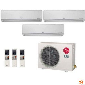 LG Ductless Mini Split Tri Zone Heat Pump 30 000 BTU 21 7 Seer system