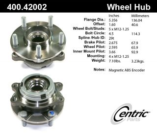 Centric Parts 400.42002E Axle Bearing and Hub Assembly