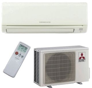 12000 BTU Mitsubishi Mr Slim Ductless Mini Split Air Conditioner