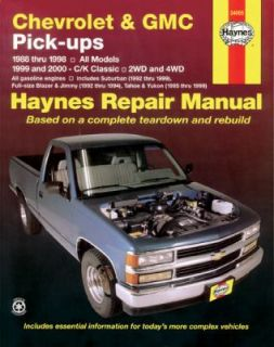 Chevrolet and GMC Pick Ups by Haynes and Ken Freund 2001, Paperback