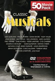 Classic Musicals 50 Movie Pack DVD, 12 Disc Set