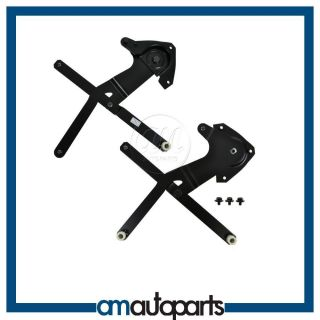64 66 Ford Mustang Front Manual Window Regulator Left & Right Pair Set