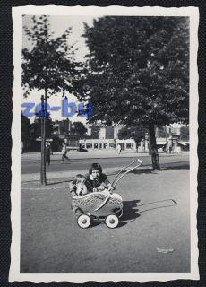 1950s baby stroller
