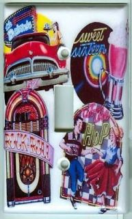 50s Diner Jukebox Light Switch Cover