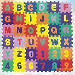 Puzzle Foam Mat Interlocking Alphabet & Number   36 Small Blocks