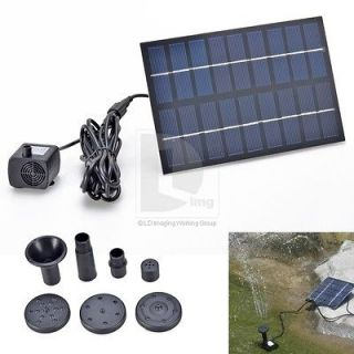 9V 200MA Solar Panel Brushless Water Pump For Home Pool Swimming