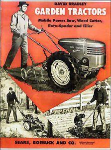 1950s David Bradley Tractors & Accessories Catalog   reprint