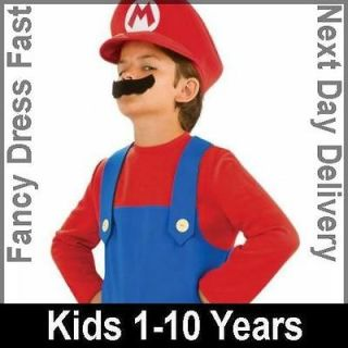 Child Super Mario Brothers Party Outfit New Fancy Dress Costume Kids