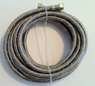 Propane, Natural Gas Line 32ft Stainless Steel Braided Hose LP