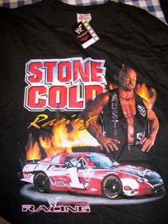 Stone Cold Steve Austin Wrestling Racing Shirt   Adult Large WWE WWF