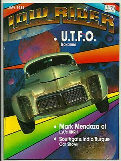 LOW RIDER MAGAZINE MAY 1985 RARE CHICANO CAR CLUB LOWRIDER TEEN ANGEL