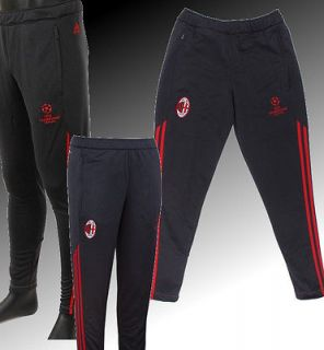 Ac Milan Adidas Pants Hose training UCL tg 2012  13 with pockets Black